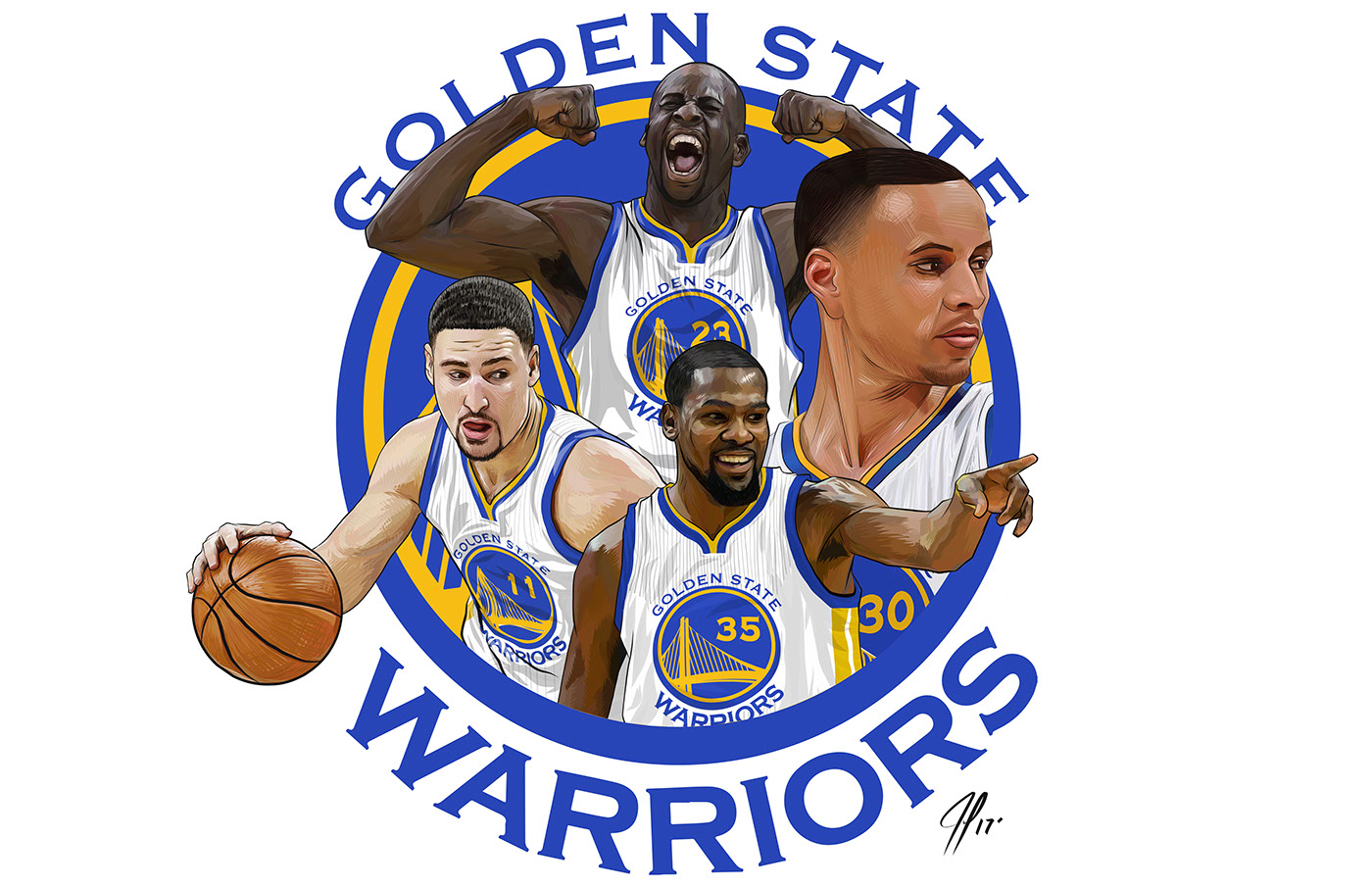 The Golden State Warriors On Behance