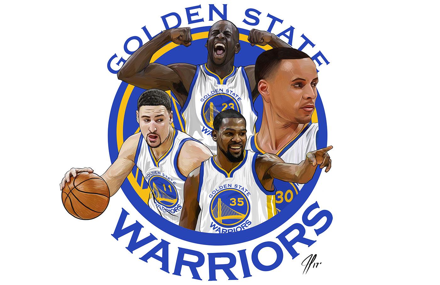 The golden state warriors on behance - Golden state warriors wallpaper 2017 ...