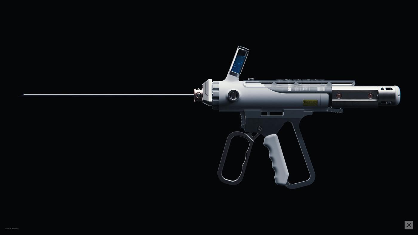 concept design industrial design  product design  3D rendering CGI keyshot MoI 3d Scifi prop
