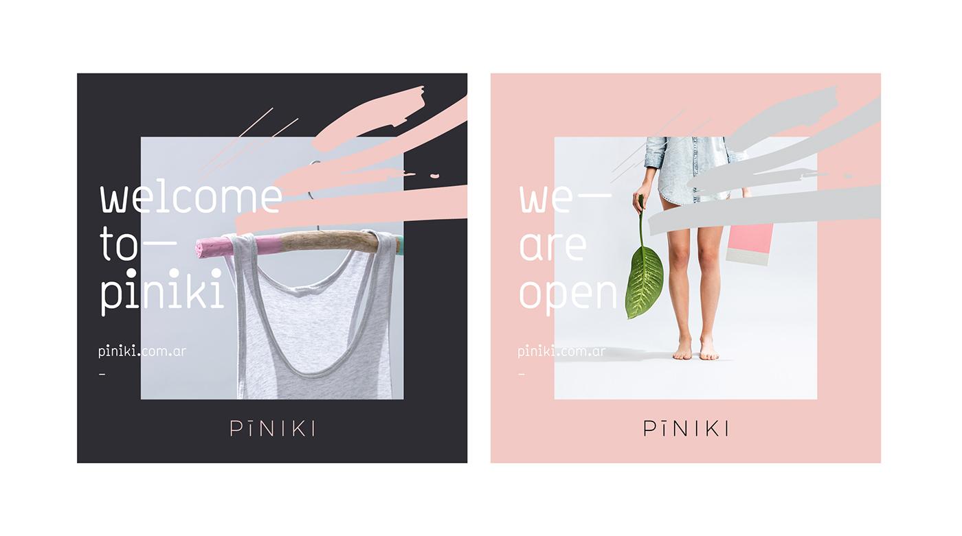 branding  Fashion  Stationery tag brand clothes pink female typography   logo