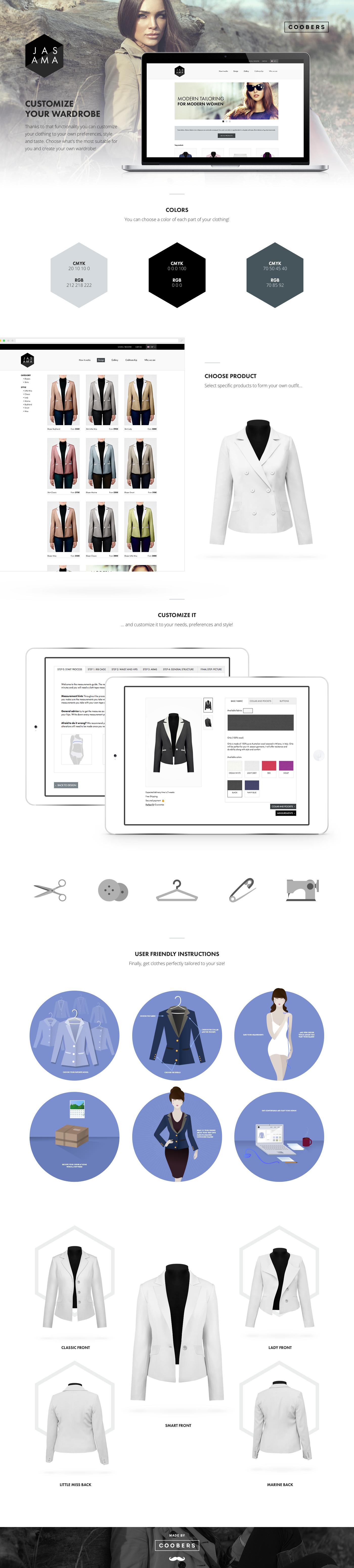 Website store Custom clothes UI ux