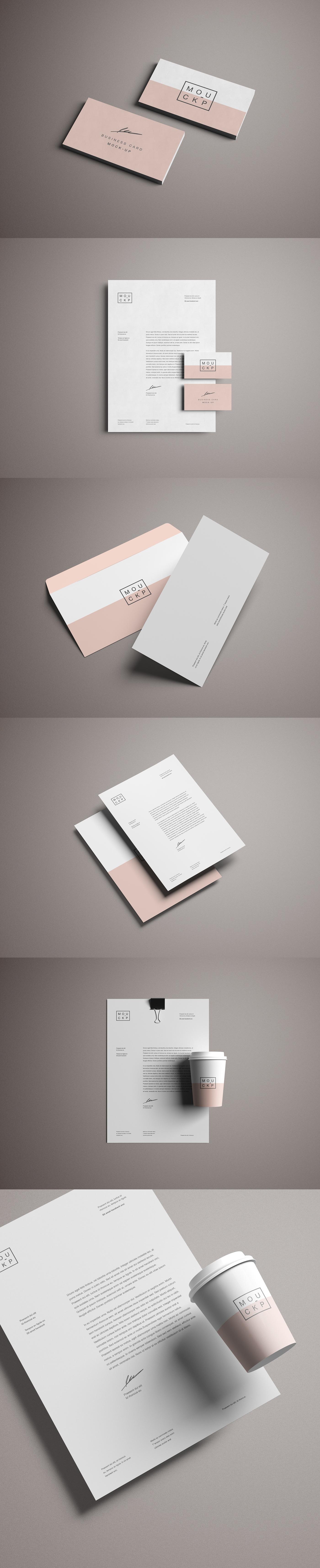 Stationery brand identity design inspiration art business card modern elegant premium free