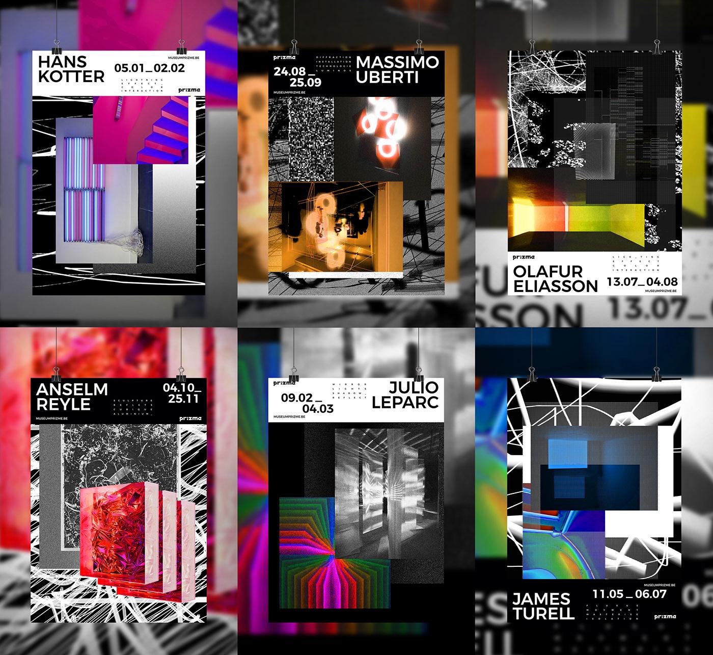 poster prisme museum edition light typography   calendar Objet dérivé flipbook festival