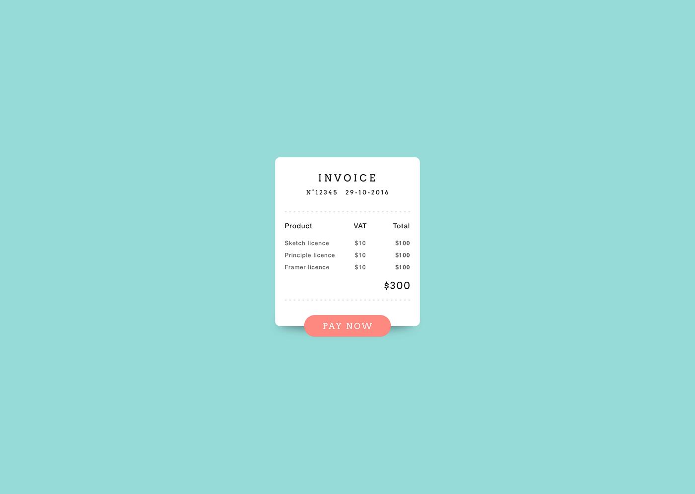 invoice design daily ui UI Web
