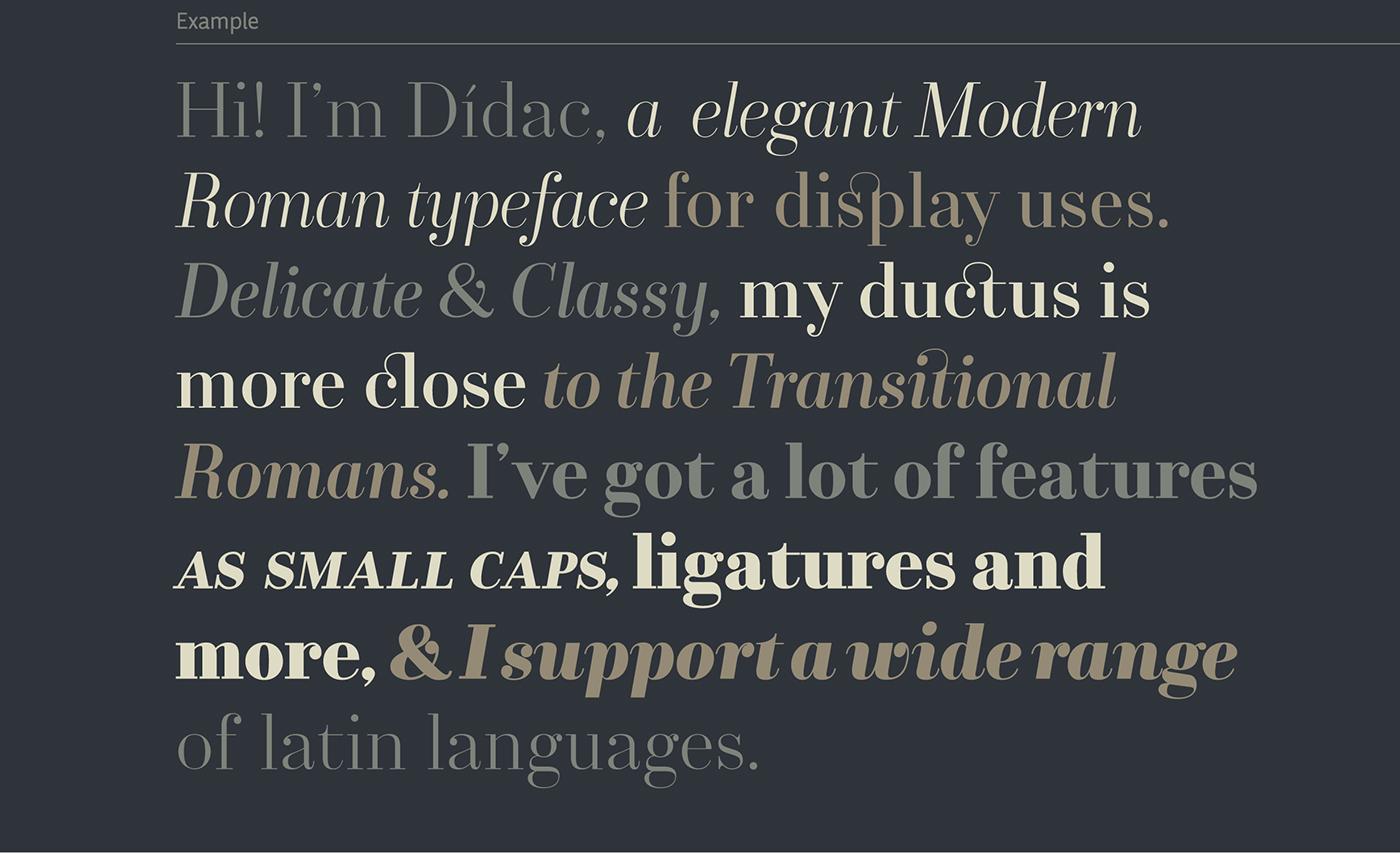 typography   Typeface font Dídac modern roman Didot elegant classy