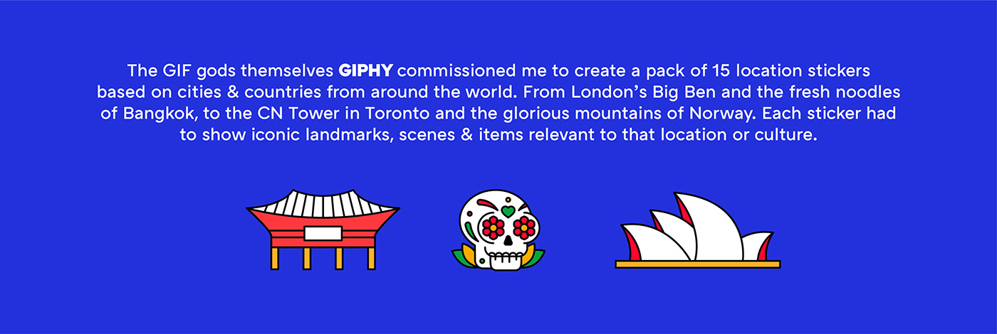 animation  Character city Fun gif giphy iconography motion stickers Travel