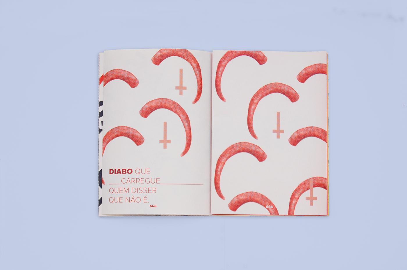 Brasil design fish music piranha Zine