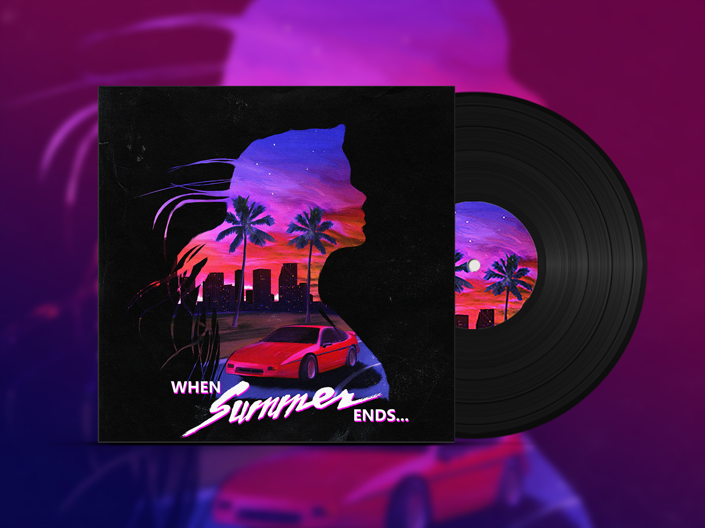 When Summer Ends Synthwave Album Cover On Behance