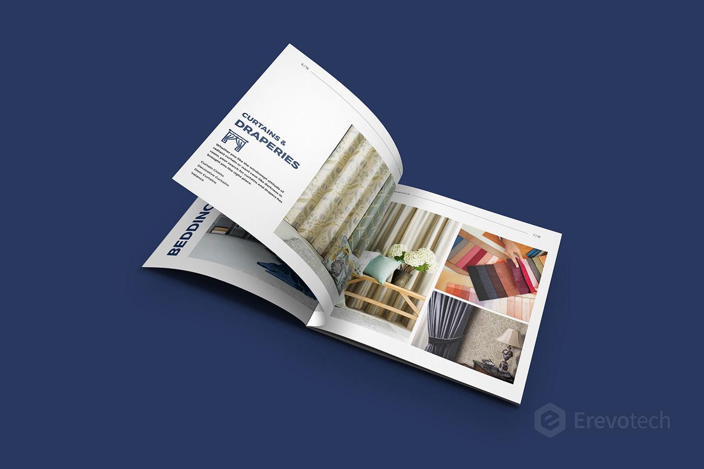 curtains catalogue design