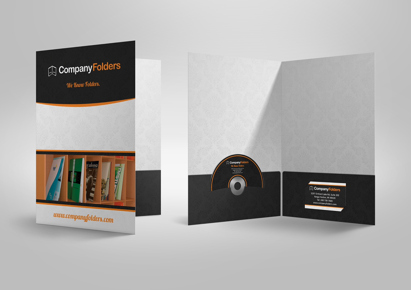 free psd  presentation folder mockup template on behance