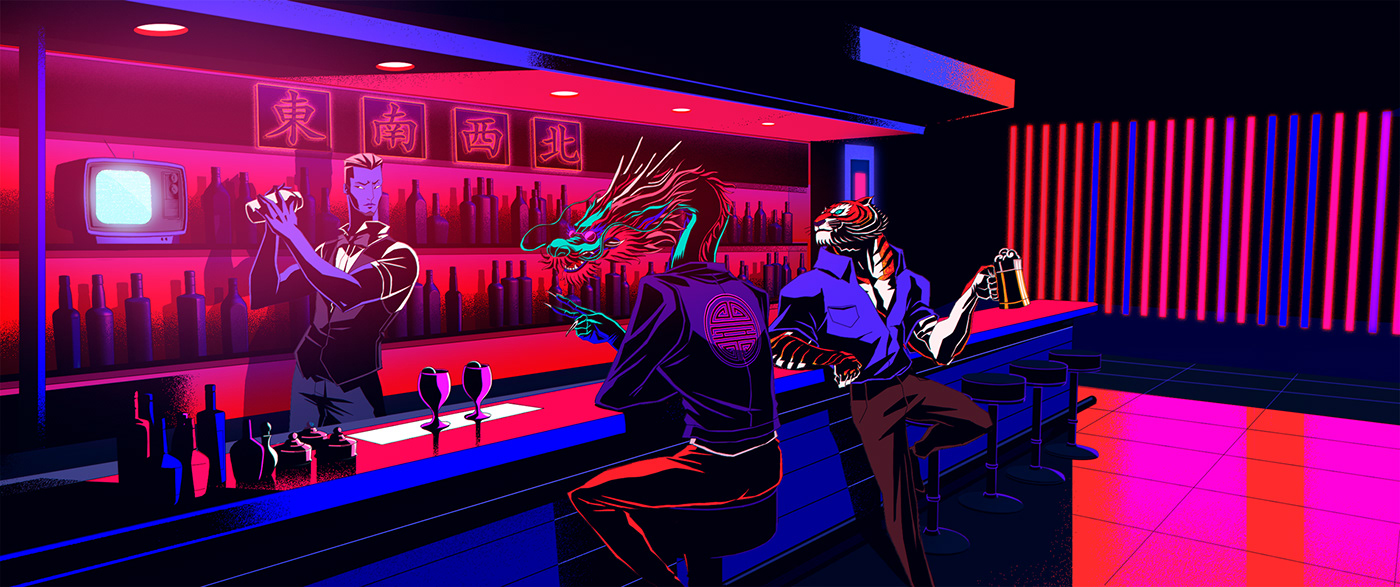animation  beefeater gin shanghai design Character design  china spy blogger bar