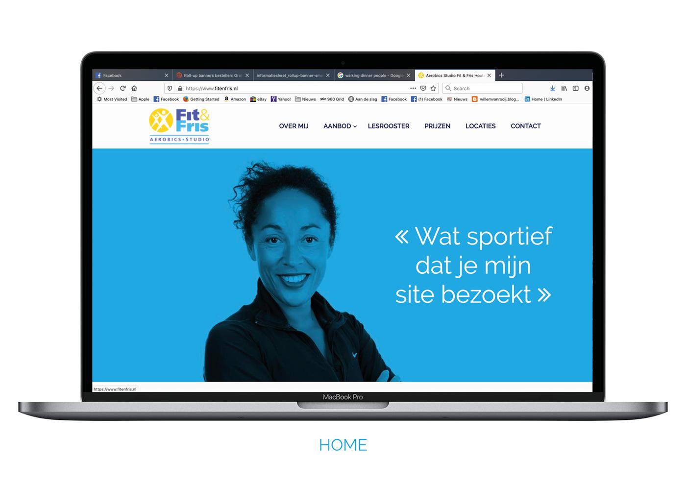 Website Aerobics sports FIT fris