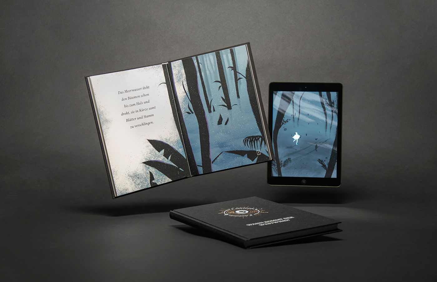 editorial tablet storytelling   innovation final project thesis interactive book book and tablet interactive storytelling master's thesis book with tablet book flat illustration