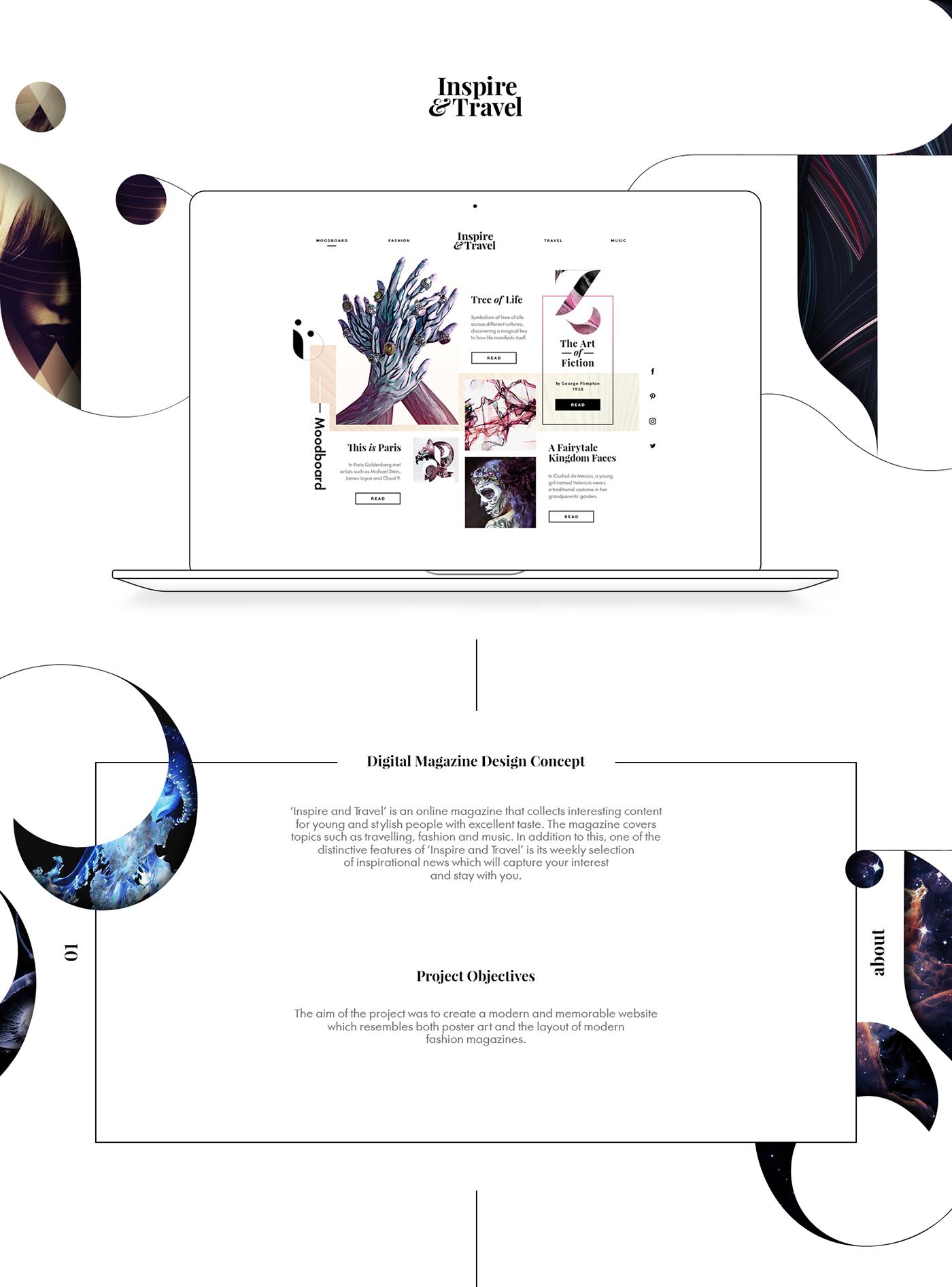Web Website UI. ux homepage clean modern Style newspaper poster
