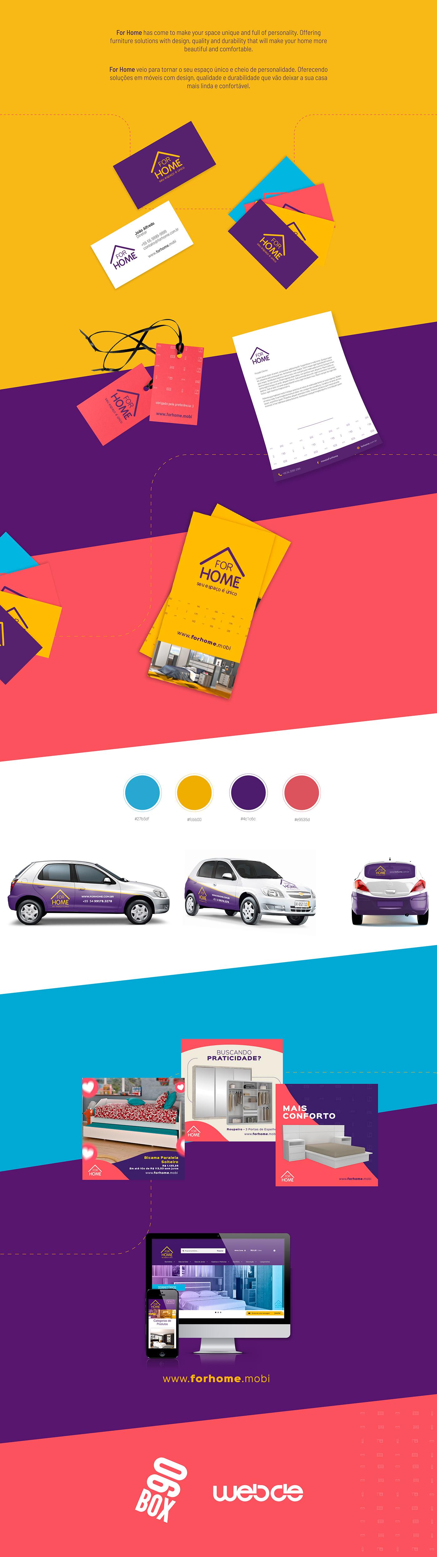 marca brand branding  colors identidade móveis logo graphic design home