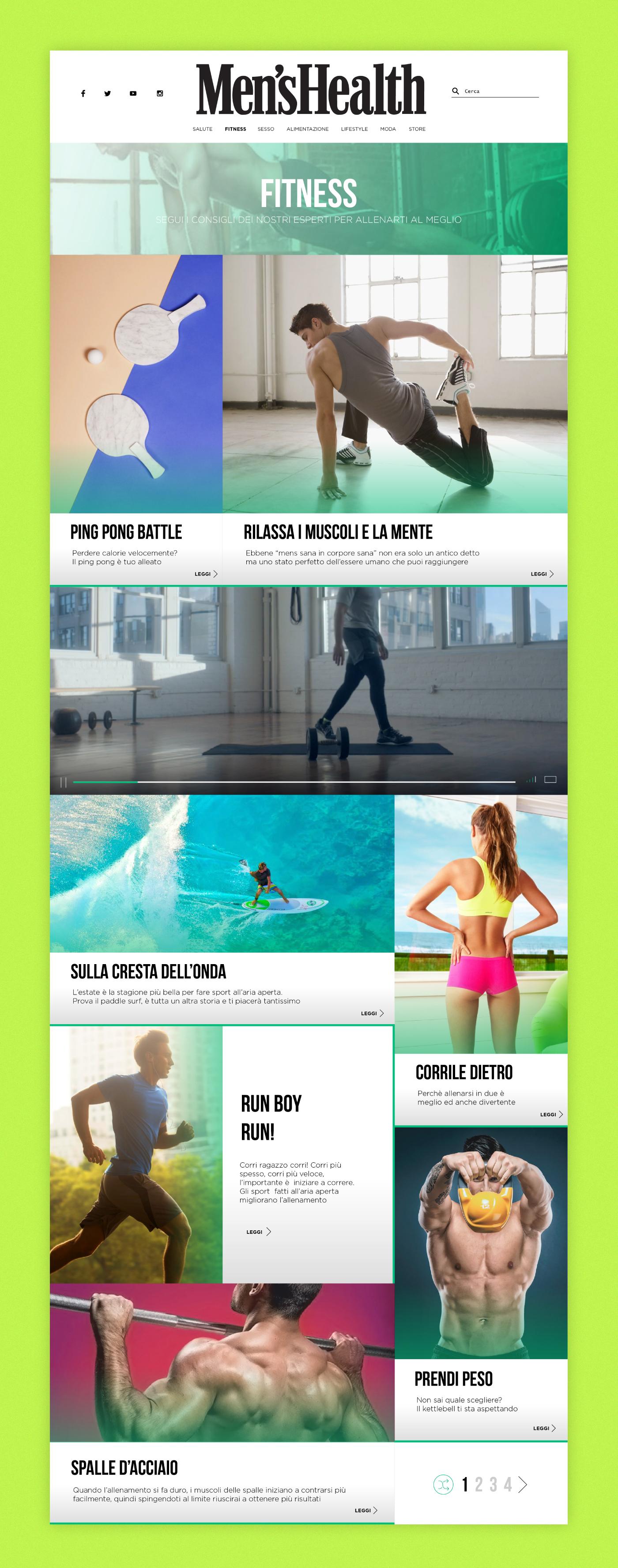 UI ux Web design milano men's Health magazine sport Interface app domenico ruffo apple watch