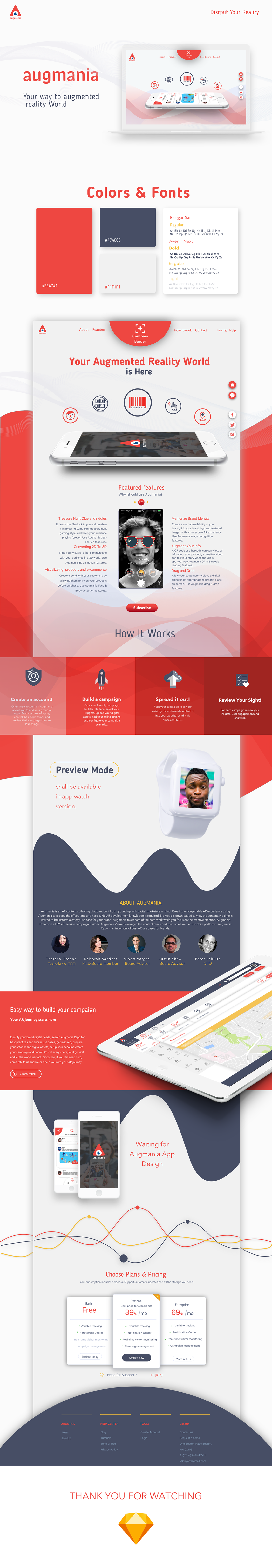 ios augmented reality red Web android Webdesign UI uxdesign