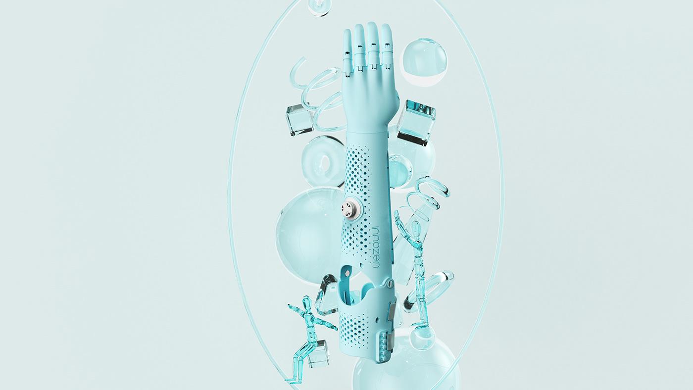 3d printing arm child children disability hand Intelligence arm Mechanical Arm Smart