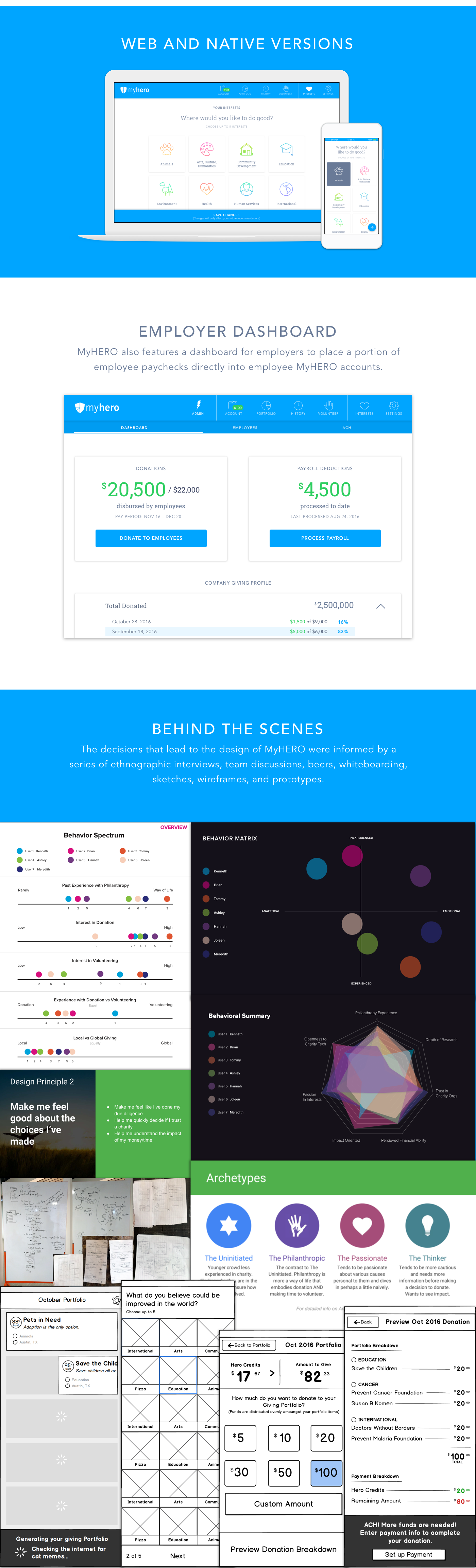 Interaction design  user experience graphic design  app charity nonprofit