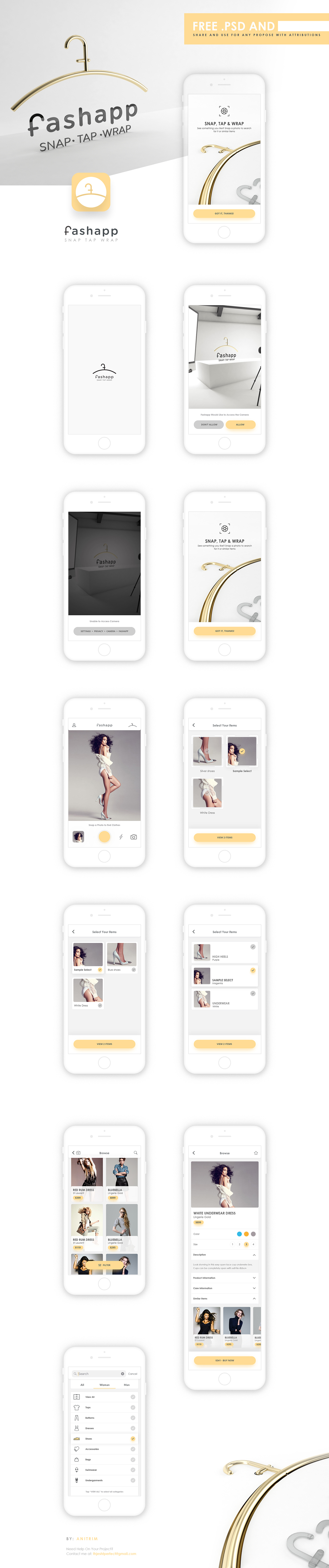 Fashion  app iphone UI psd photoshop download Photography  iOS11