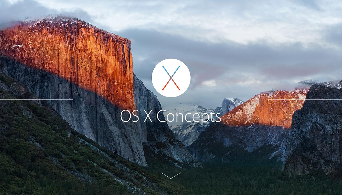 Os osx capitan yosemite concept mac ios apple Siri fingerprint login concepts