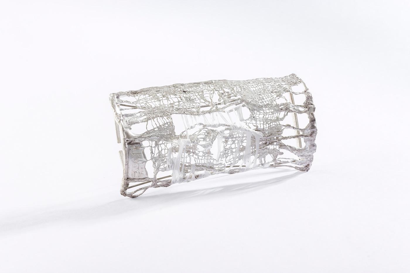 contemporary jewelery  contemporary jewelry Joyería contemporánea lost cast wax mabel pena plastic silver 925