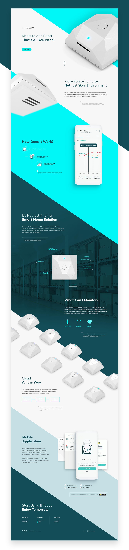 animation  web animation Web product triglav sensor room interaction UI ux