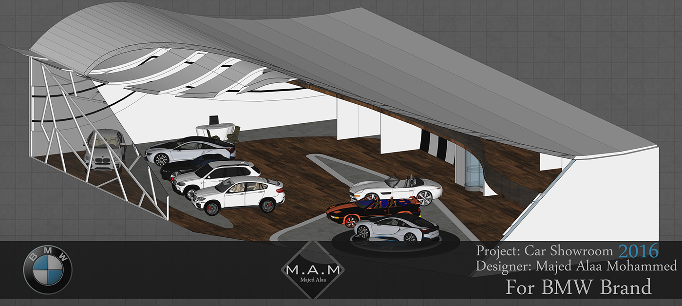 BMW Car Showroom Project On Behance