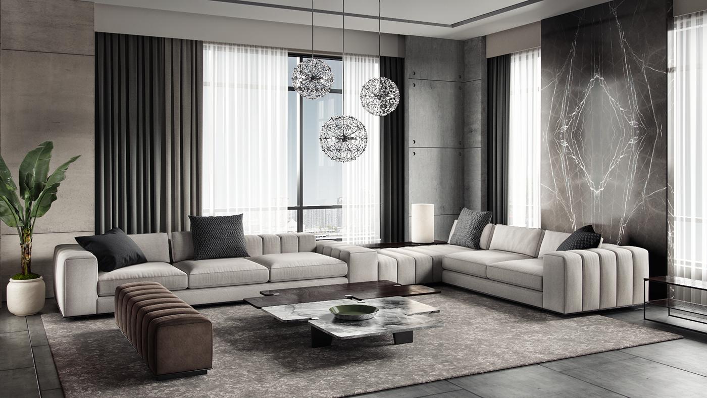 Luxury Modern Living room interior design -Dubai , Uae on ...