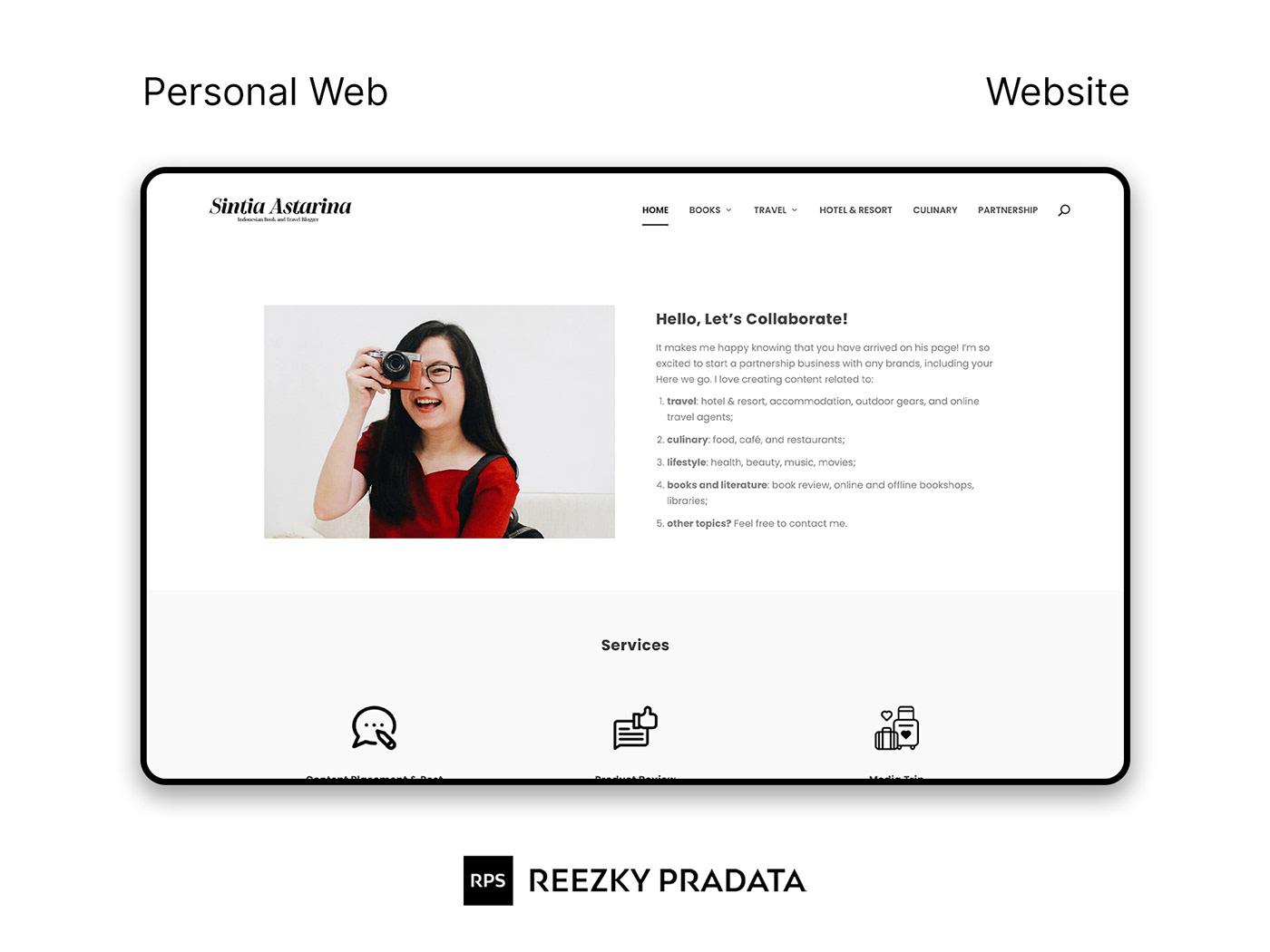 clean minimal modern personal simple UI/UX Web Design  Website Website Design wordpress