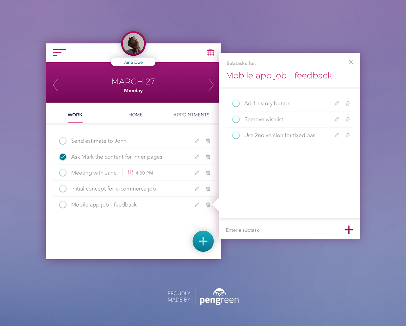 daily ui 042 to do list on behance
