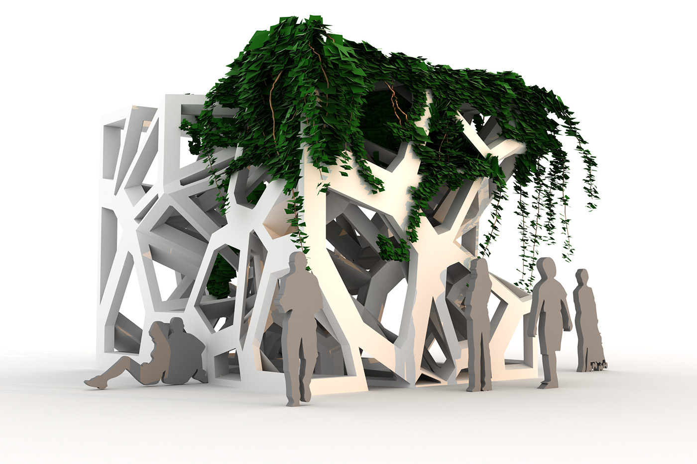 three dimensional urban green volume - HD1400×933