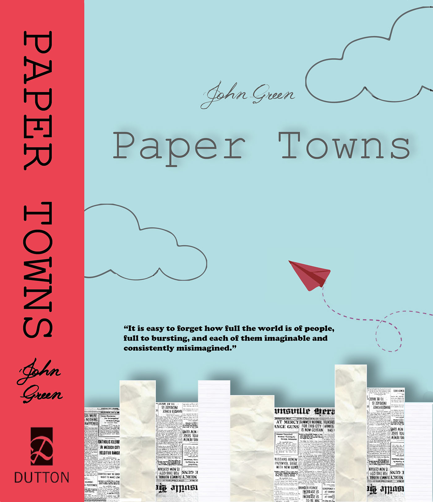 Paper Towns Book Cover Girl ~ Paper towns book cover redesign on behance