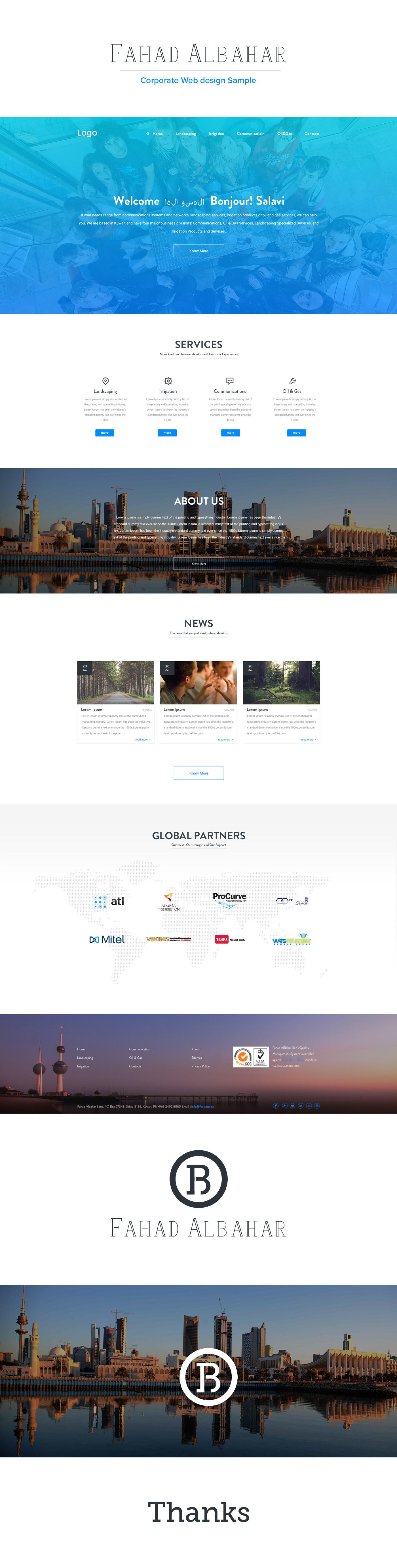 UI ux Webdesign minimal blue White logo flat