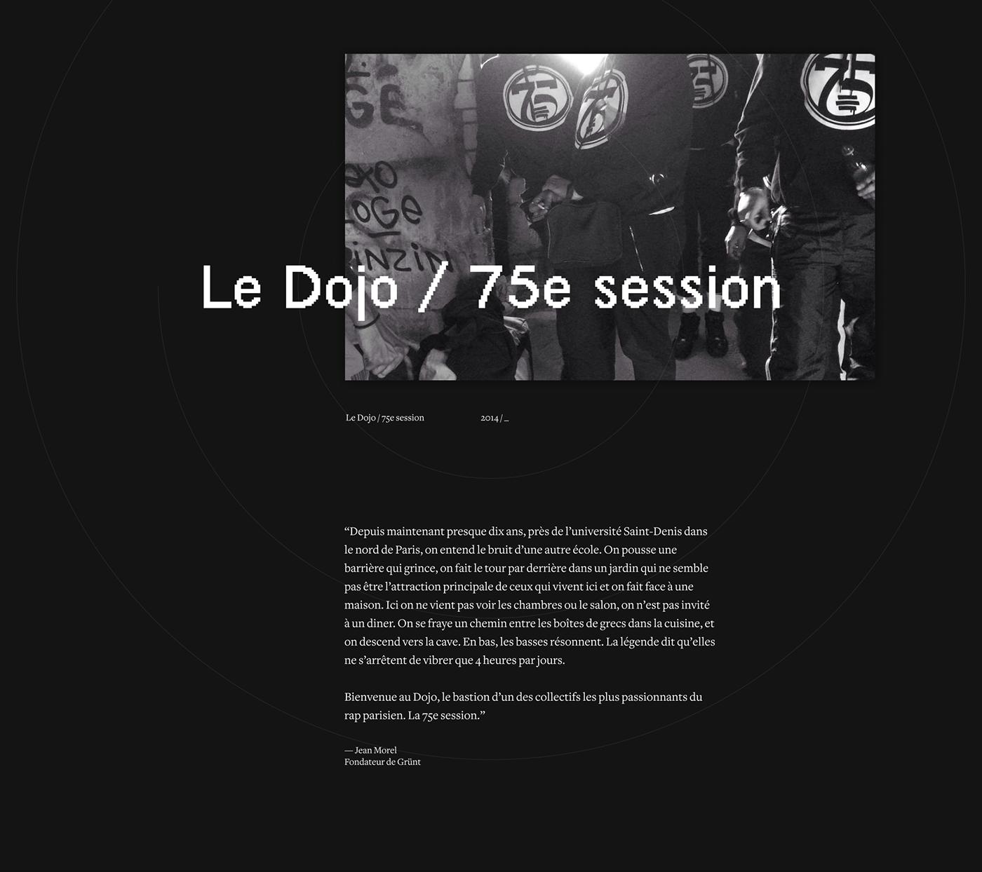 DOJO studio 75ème session session son rap Paris