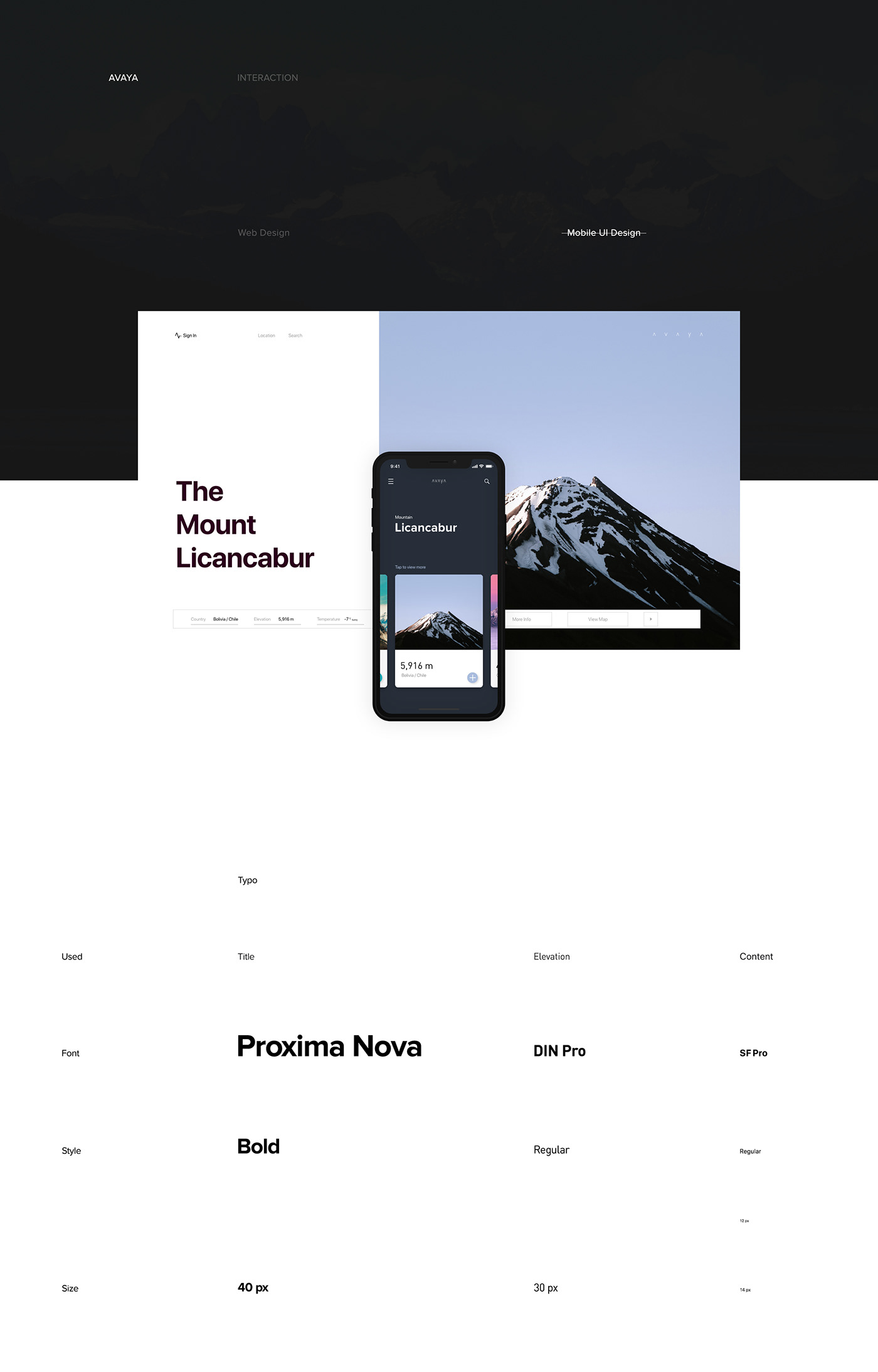 Minimalist UI/UX Design for Avaya
