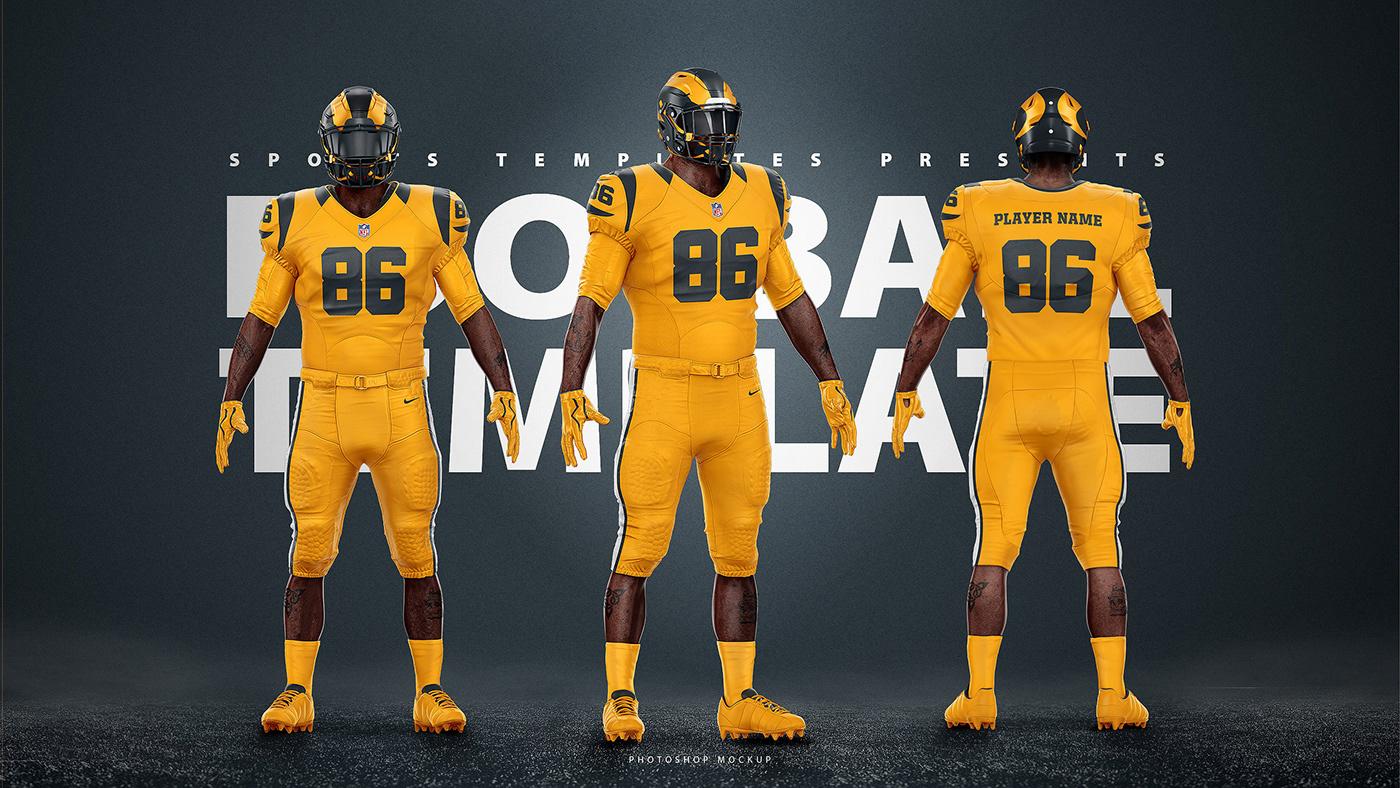 nfl football uniform template mockup v2 0 on behance