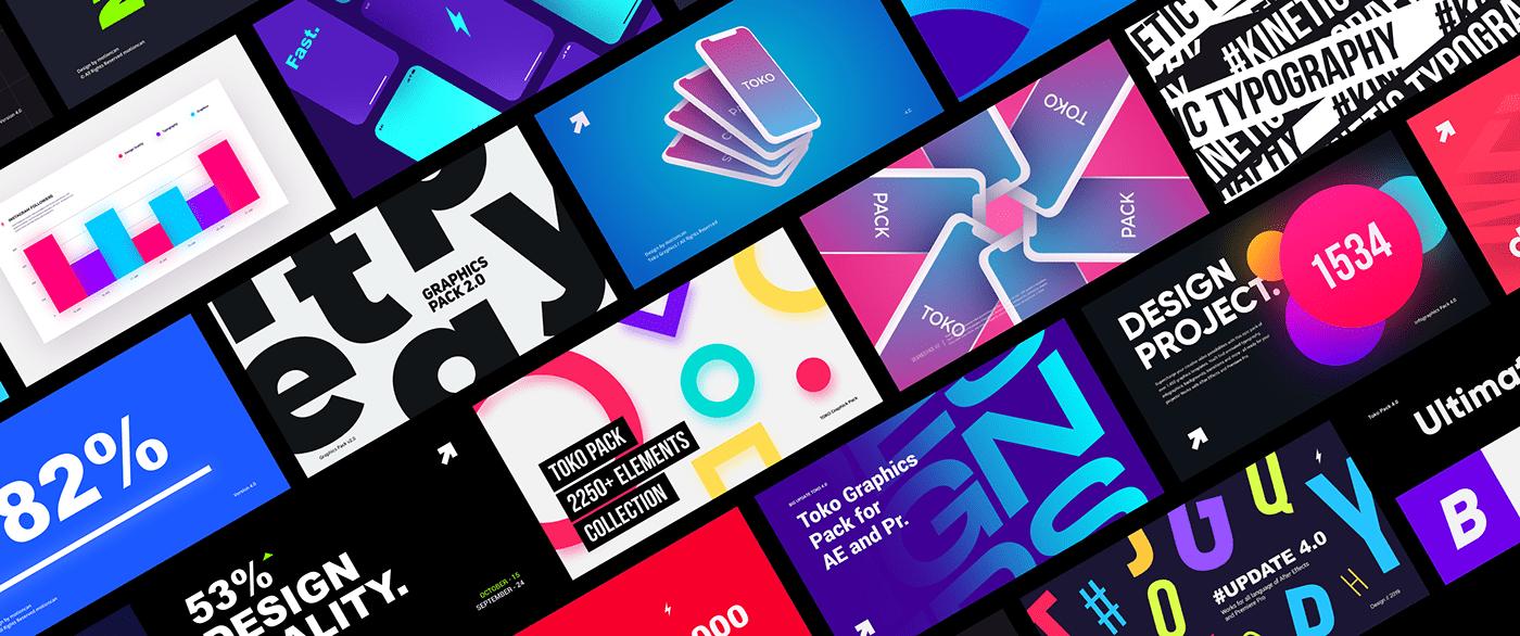 Typogrsphy slides design for after After Effects and Premiere Pro
