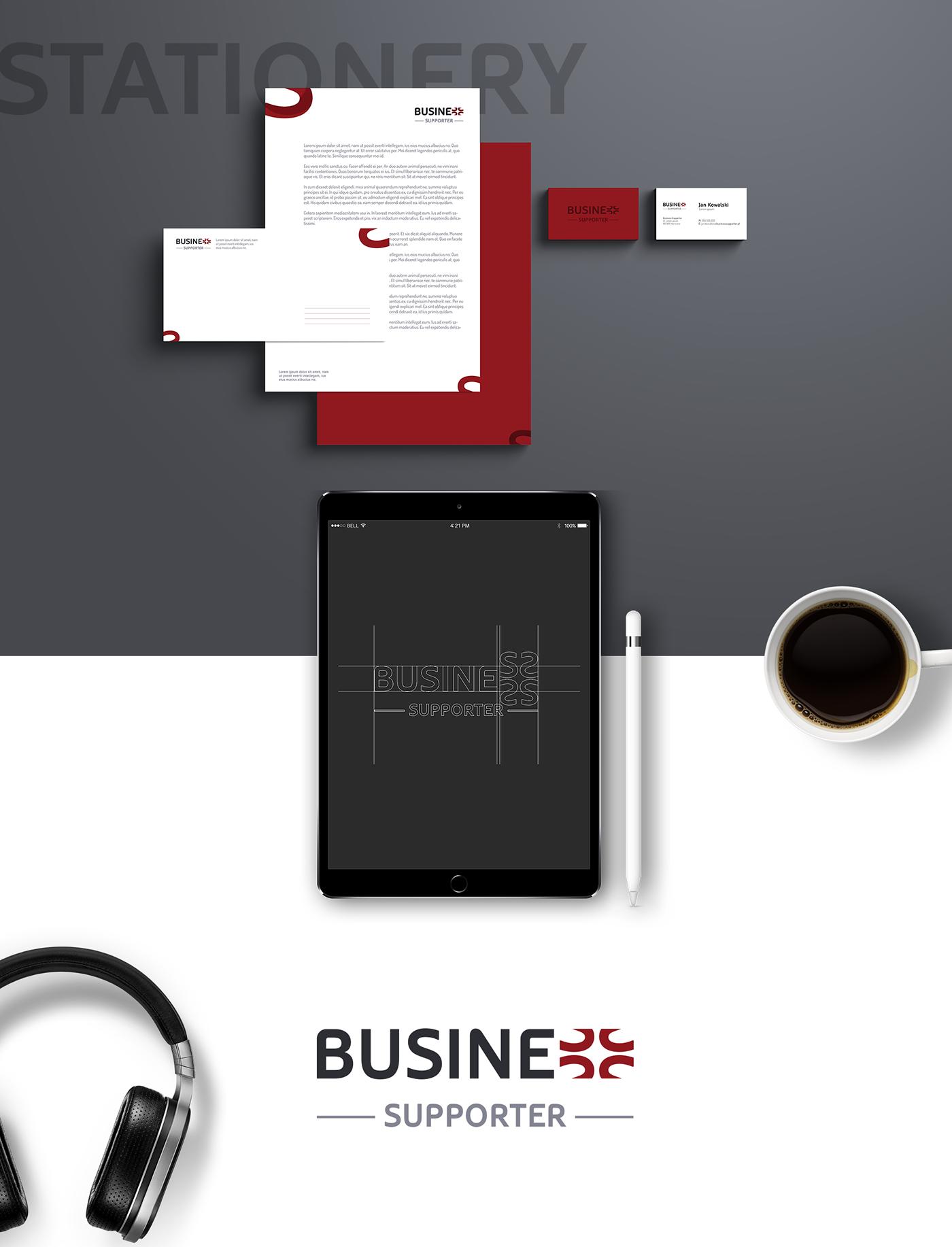 identity brand logo paper presentation iPad Stationery