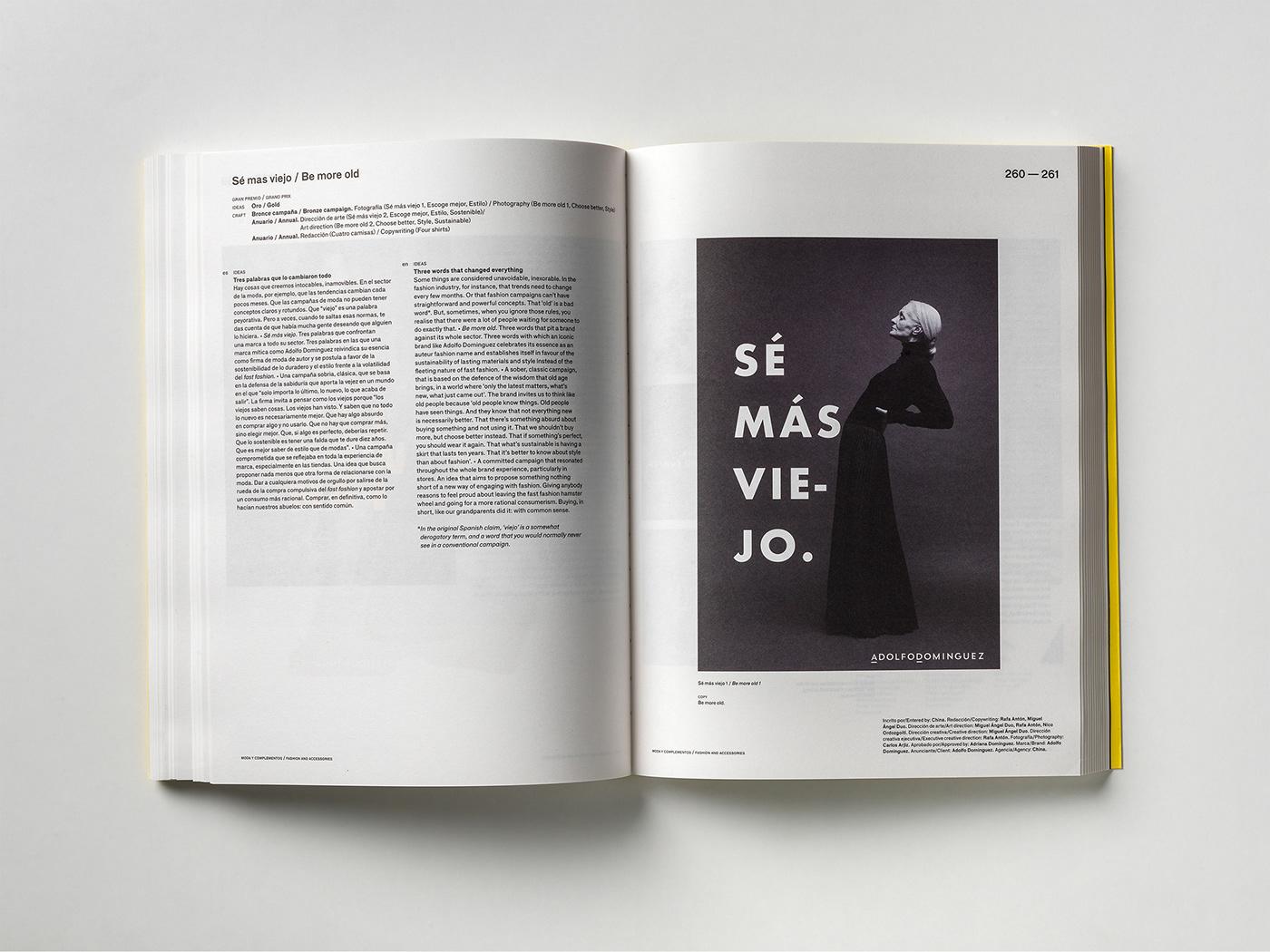 Advertiding book Creativity typography