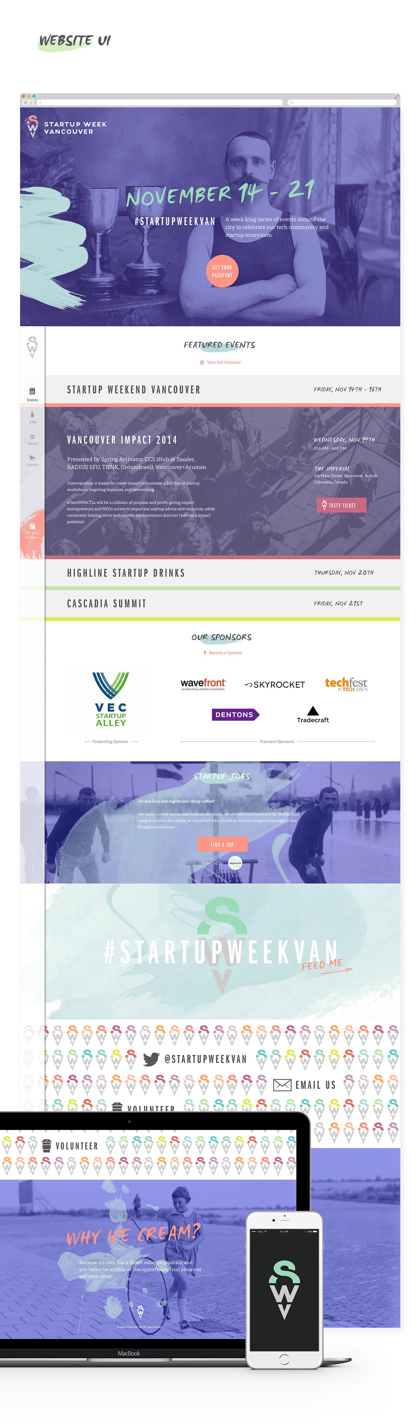 identity Startup symbol Web Design  art direction  branding  Event vancouver