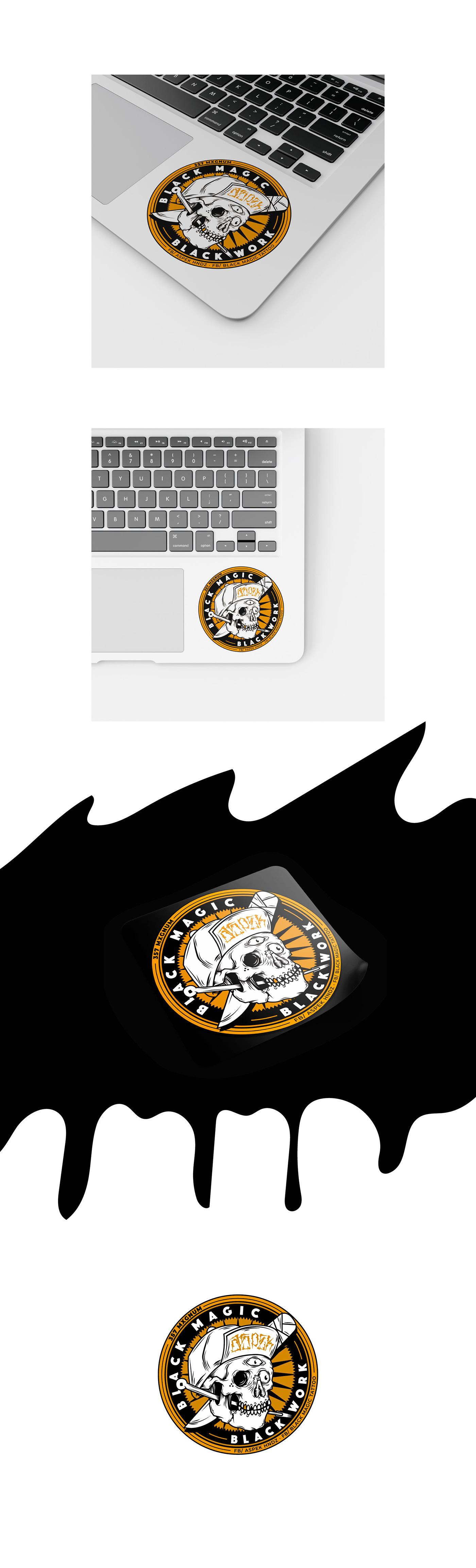 stiker ILLUSTRATION  skull STIKERS LOS CABOS ilustraron digital