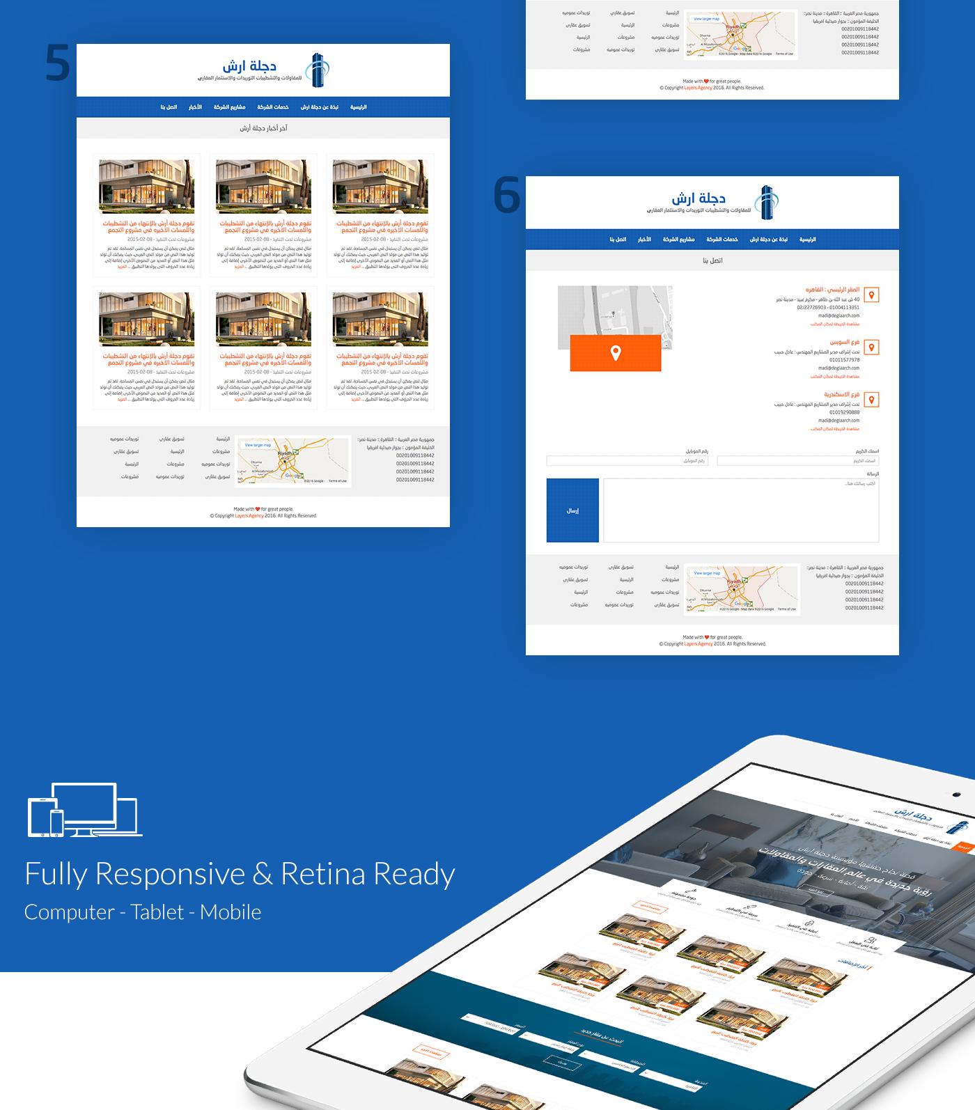 real estate Investment wordperss Webdesign ux UI