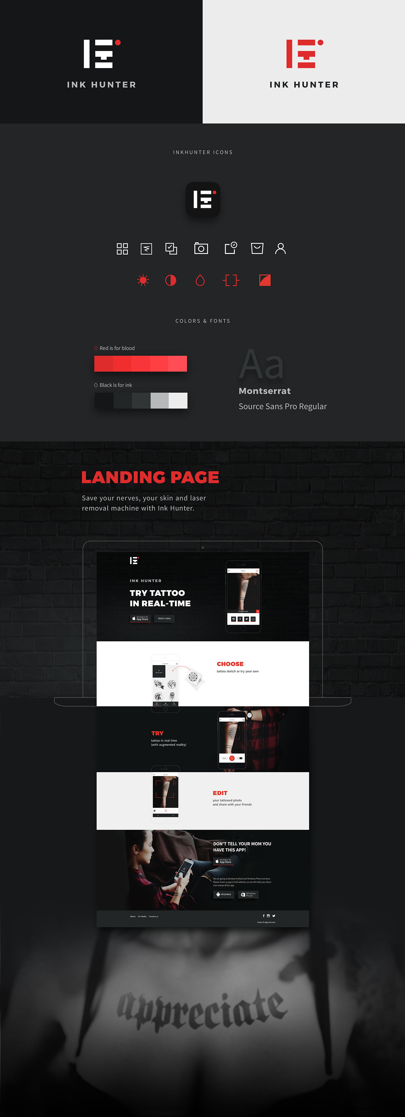 Mobile app landing page Web Design  UI/UX Onepager landing