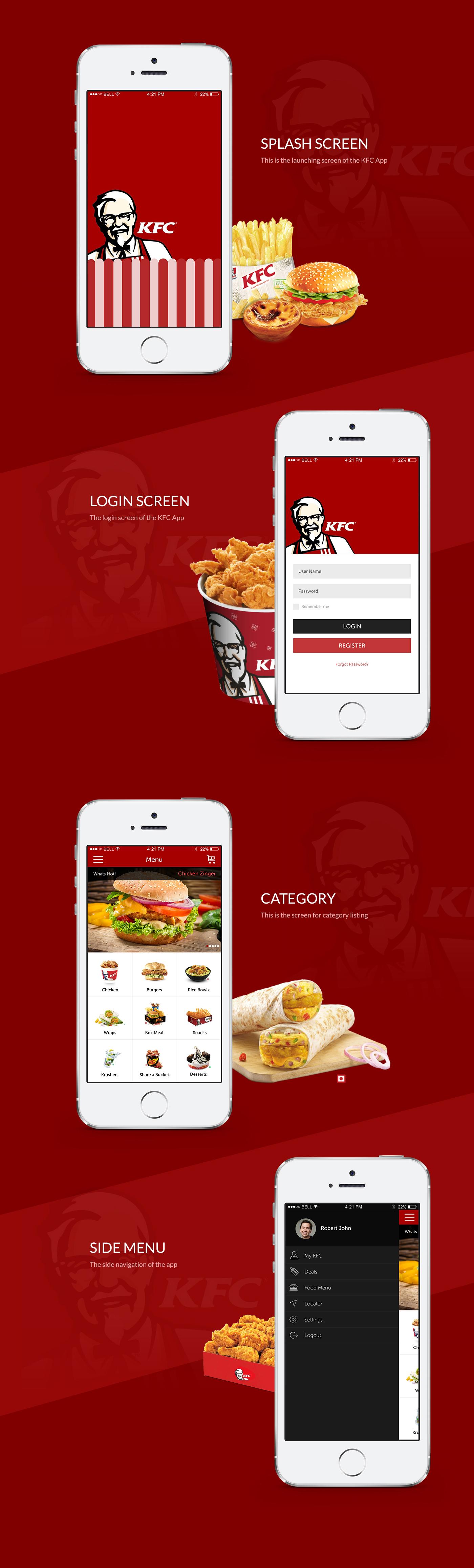 KFC iOS App Redesigning Concepts