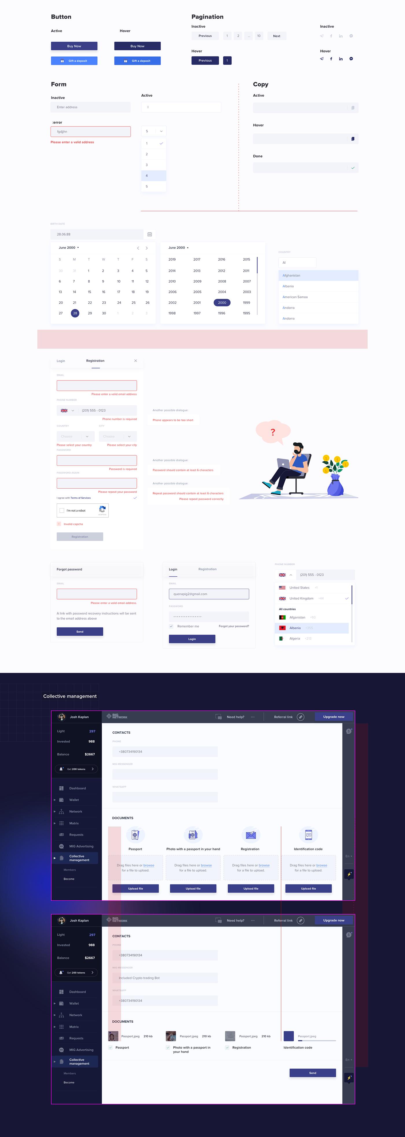 admin area dashboard design UI ux