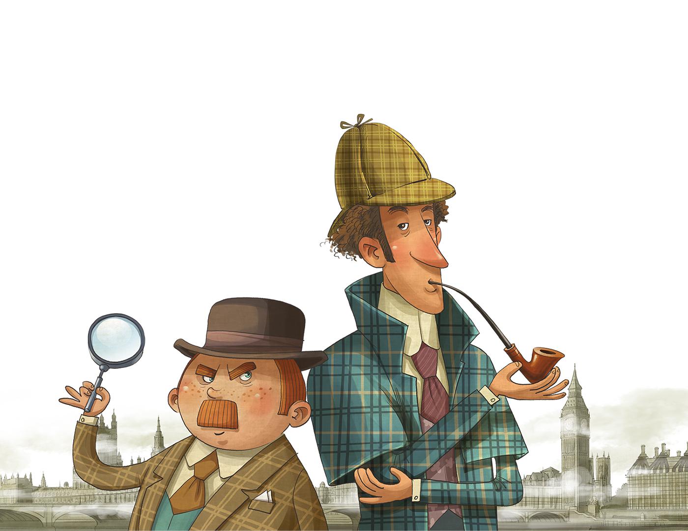 Картинка детектив холмс