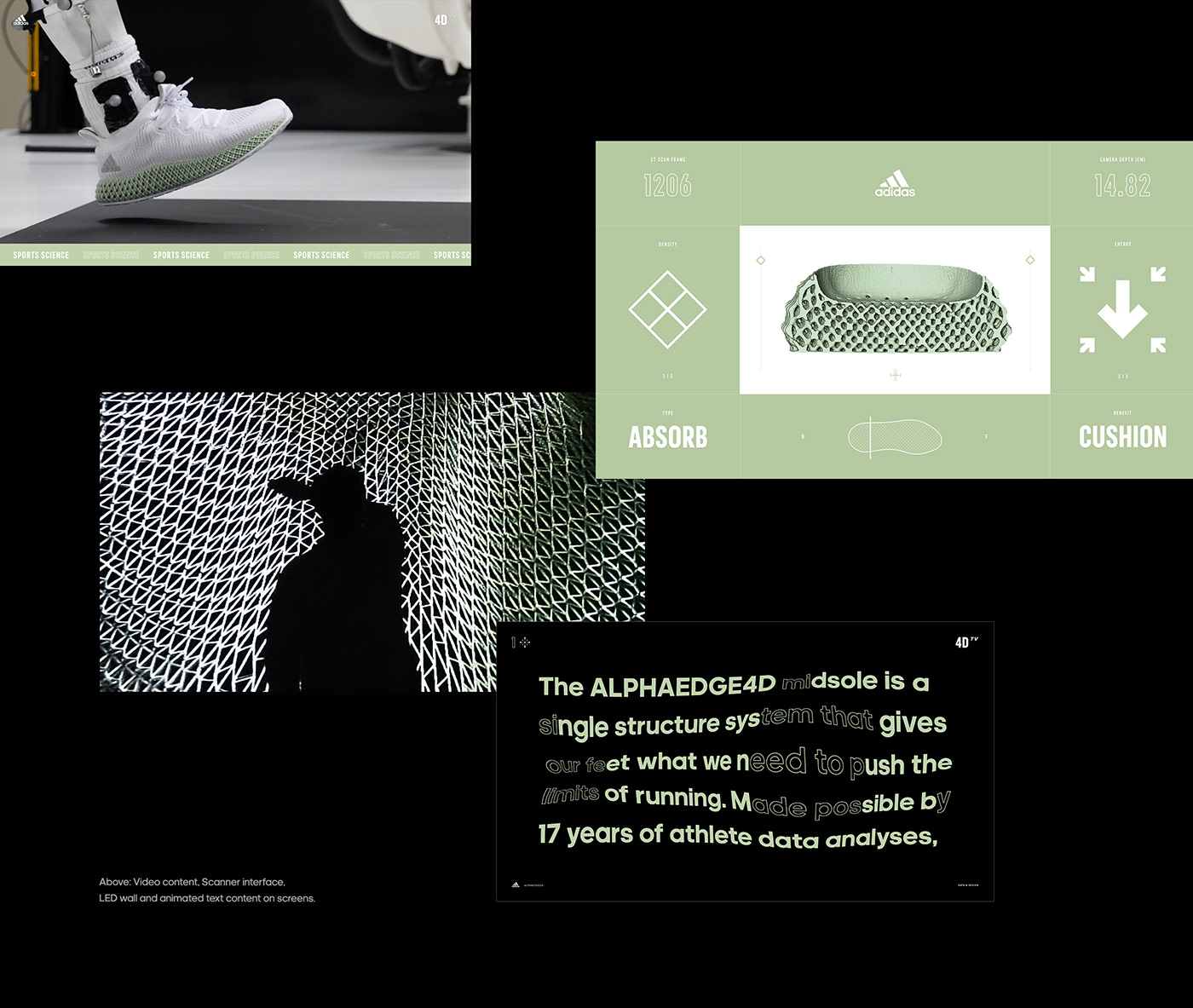 Event art direction  installation activation adidas interactive led digital product shoe