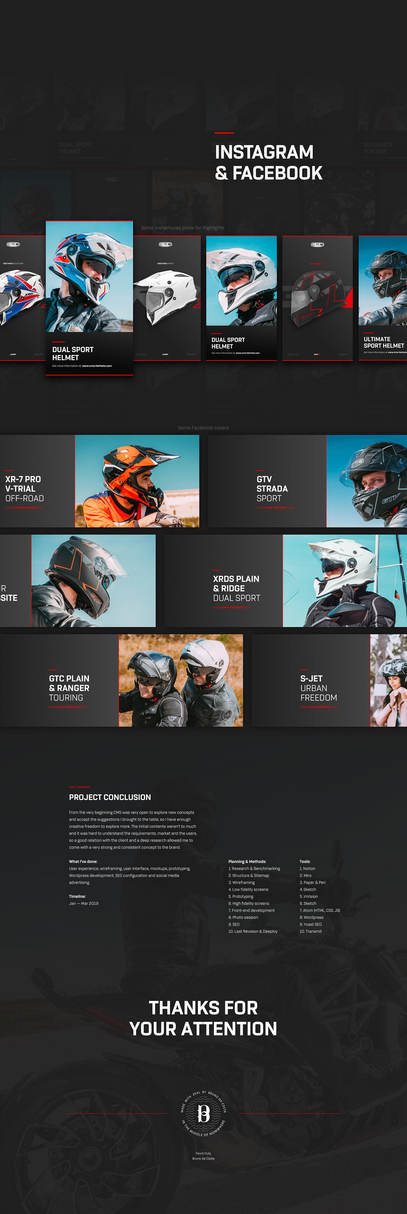 Web Design  UI&UX   UI/UX ui design UX design motorcycles helmets art direction  branding  Creative Direction
