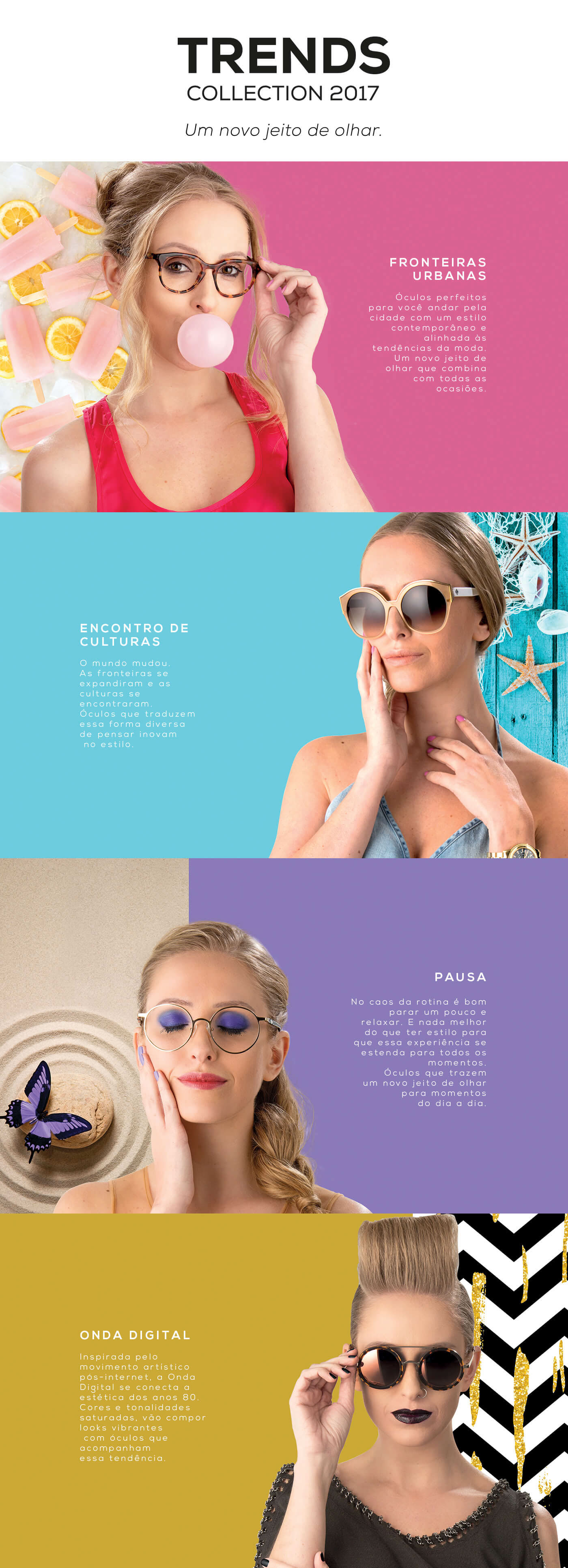 glasses optics vízia óptica vízia branding  rebranding campaign glass trends 2017 trends design